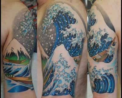 Japanese Waves Tattoo