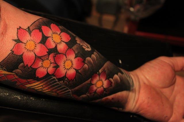 Mens Cherry Blossom Tattoo Designs