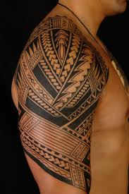 Tahitian tribal tattoo traditional