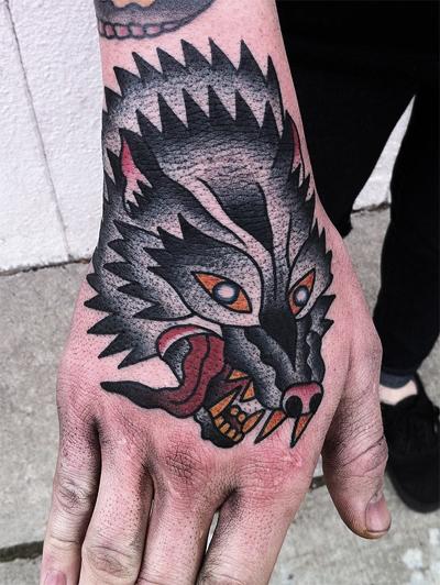 f5e298ca1 Traditional Wolf Tattoo Mike Adams Richmond, VA