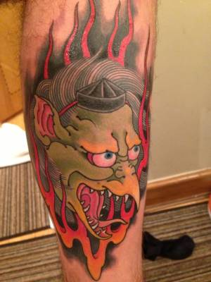Tengu tattoo Chris Garver