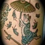 Japanese Style Cat Tattoo | Betty Rose