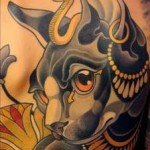 Egyptian Cat Tattoo Backpiece