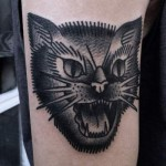 Cat Tattoo by Mike Adams | Richmond, VA