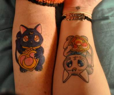 Sailor Moon Cat Tattoos