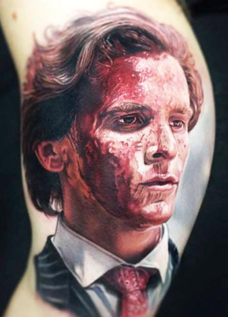 American Psycho horror tattoos