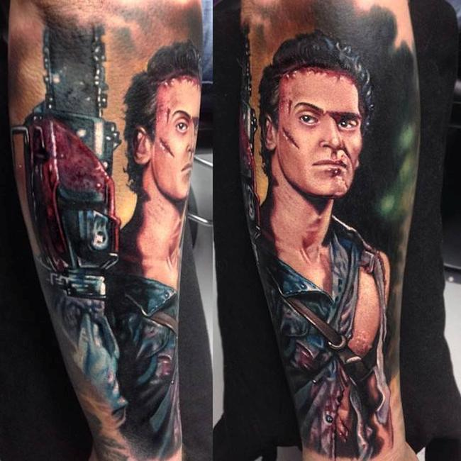 Ash Army of Darkness Tattoo