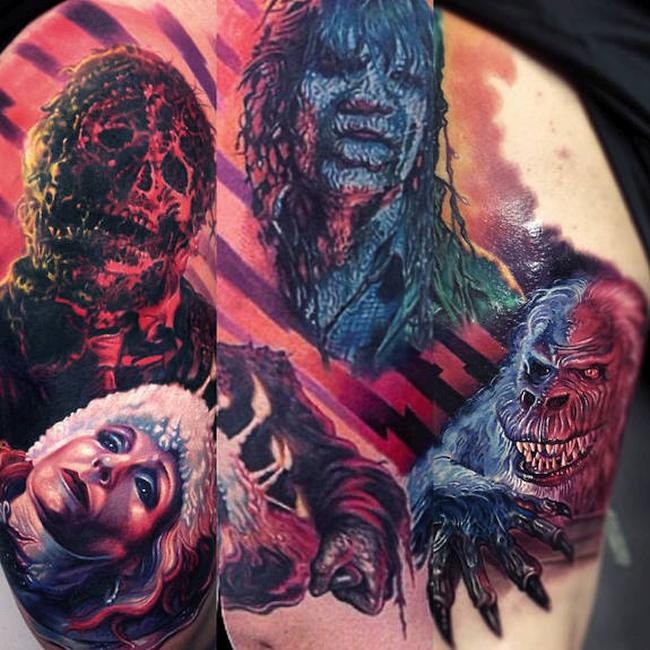 Paul Acker Horror Tattoos Creepshow