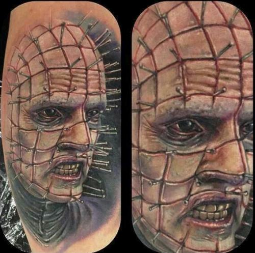 Pinhead from Hellraiser Tattoo